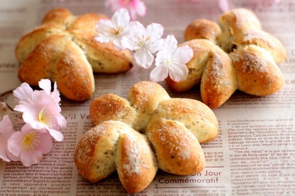 桜のフランスパン2